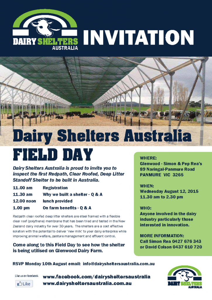 Dairy Shelters Australia Field Day